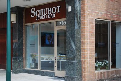 Schubot Jewellers Storefront 230 Merrill Street Birmingham MI Your Private Jeweller diamonds 18K gold platinum gemstones watches ruby emerald sapphire
