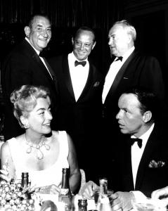 Jules Schubot with Joan Crawford and Frank Sinatra