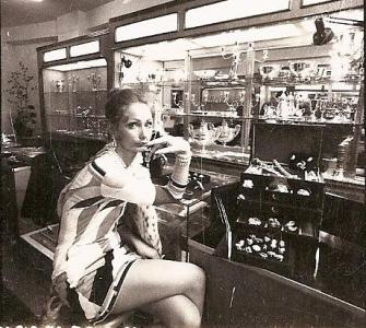 Model in Schubot Store circa 1965