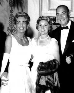 Jules and Baraga Schubot with Joan Crawford