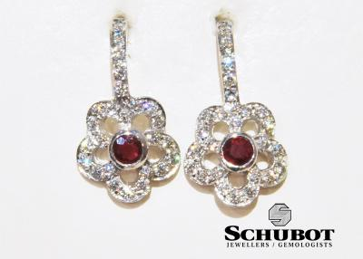 Val Day Ruiby and Diamond earrings